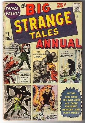 Marvel Comics VG 4.0  BIG STRANGE TALES #1 Annual Dr Strange rare comic 1962