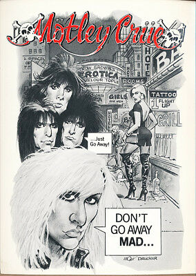 Motley Crue The Night of a Thousand Umlauts! RARE promo postcard '90