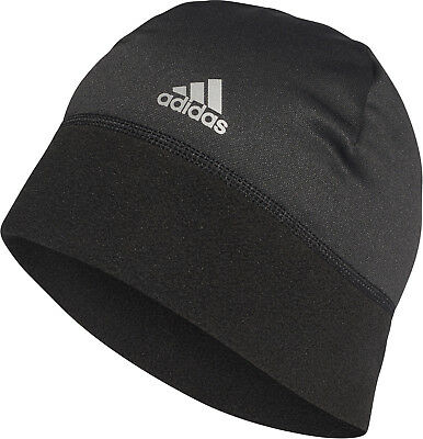 adidas ClimaWarm Running Beanie Mens Womens Winter Fleece Hat Skullie Black