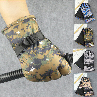 Camo Hunting Shooting Fishing Gloves Men Thermal Insulated Camouflage Mittens