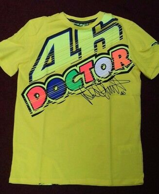 Valentino Rossi Vr46 T Shirt Yellow The Doctor Moto Gp New Genuine 2017