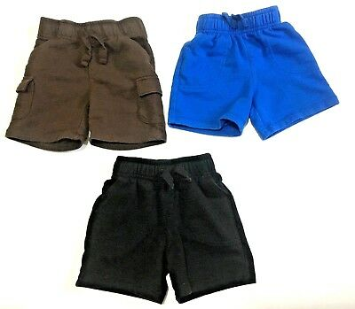 Lot of 3 Toddler Shorts 2T Circo and Jumping Bean Brown Black and Blue