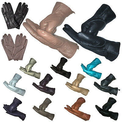 Ladies Genuine Soft Leather Gloves Warm Driving Premium Insulated Lining