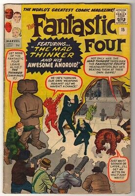 Marvel Comics VGF  FANTASTIC FOUR  #15  1st appearance Mad thinker
