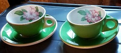 GREENBRIER HOTEL - CHESAPEAKE & OHIO RAILROAD CUP & SAUCER by HOMER LAUGHLIN