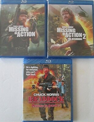 Missing in Action 1-2-3: Chuck Norris Vietnam Action Classics New 3 Blu-Ray