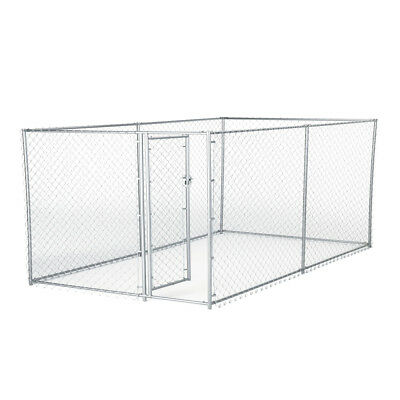 Lucky Dog 10 x 5 x 4 Foot Heavy Duty Outdoor Chain Link Dog Kennel Enclosure