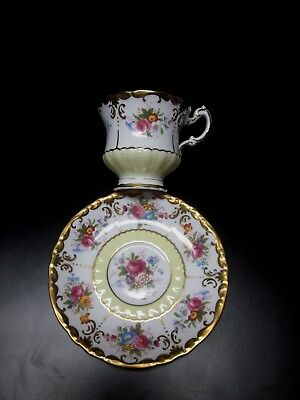 """Paragon Cup and Saucer """"By Appointment To Her Majesty the Queen"""" Roses Gold Gilt"""