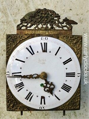 French Chamber / Lantern Wall Clock - Paris Signed abd Dated 1750