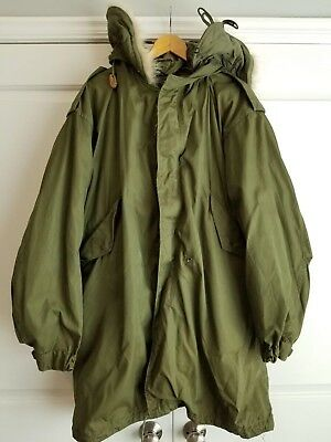 VINTAGE ORIGINAL US ARMY FISHTAIL PARKA with Liner & Hood