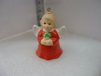Goebel Angel Bell Ornament 2009 Red