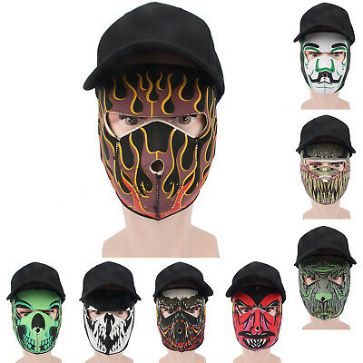 Multi-style Outdoor Motorcycle Cycling Face Mask Thermal Respirator Filter