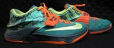 7d43cdccf629 Nike KD VII 7 Weatherman Emerald Green Men s Size 11.5 (653996 ...