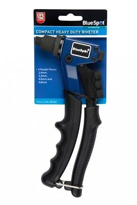 200mm Hand Riveting Tool compact Rivet Gun Pop Riveter 2.4 - 4.8 BlueSpot 09102
