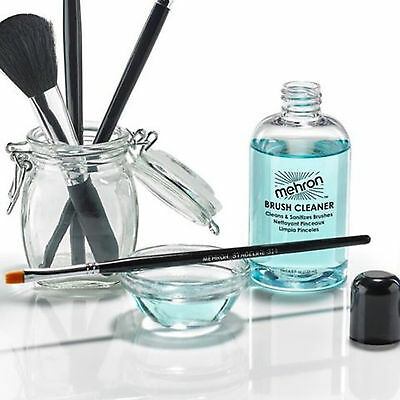 Brush Cleaner sanitize deodorize treatment face paint mint Mehron MUA makeup TV