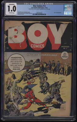 Boy Comics #13 CGC 1.0 OW Pages Conserved Classic War Execution Cover