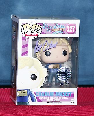 AUTOGRAPHED (signed) FUNKO POP VINYL WONKA CHARLIE BUCKET + EXTRAS!!