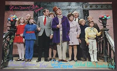 "11"" X 17"" Willy Wonka Choc Rm Stairs Autographed (Signed) By Five + Bonuses!!"