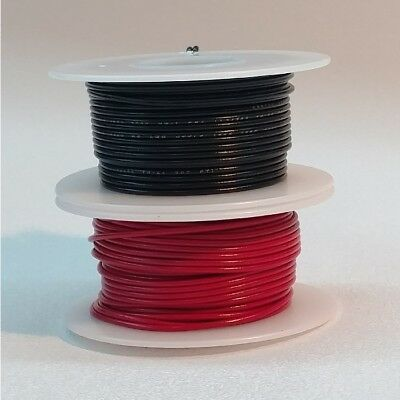 24 AWG UL1007 UL1569 Hook-up Wire BLACK and RED one 50 foot spool of each NEW!