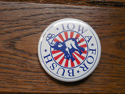 Iowa Pin Back Presidential Campaign Political Button President 1988 George Bush