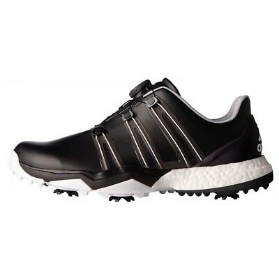 NEW Adidas Mens Powerband Boa Boost Golf Shoes Black / White - Choose Your Size