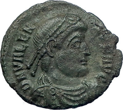 VALENS  364AD Authentic Genuine Ancient Roman Coin Nike Victory  Angel  i73223