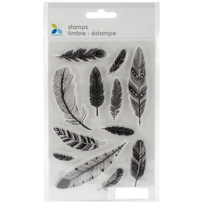 ASSORTED FEATHERS - Clear Stamp Set - Momenta