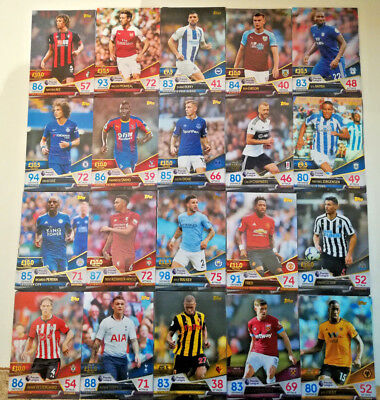 MATCH ATTAX ULTIMATE 2018/19 18/19 TEAM CARDS base 1 to 100