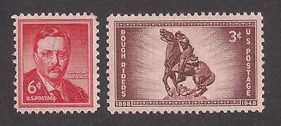 Teddy Roosevelt - Rough Riders - Spanish-American War - Set Of 2 U.s. Stamps