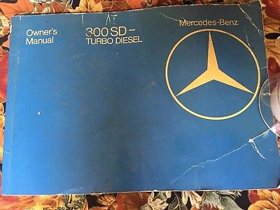 Original 1982 Mercedes Benz 300 SD Turbo Diesel Owners Operators Manual 82