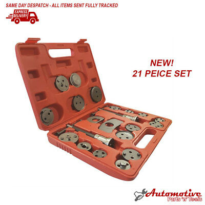 21pc Left & Right Thread Brake Caliper Piston Return Wind Back Tool Kit Ford