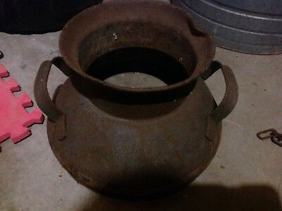 Old Milk Can Top for  Flower Pot Garden Planter