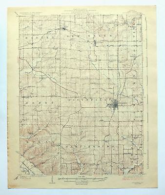 Pittsfield Illinois Vintage 1926 USGS Topo Map Baylis Griggsville Topographic