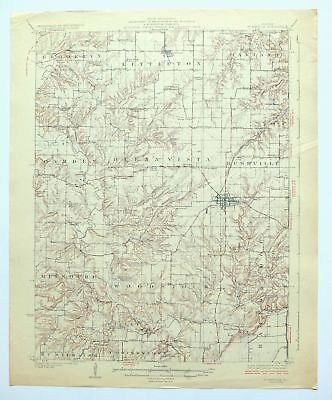 Rushville Illinois Vintage 1926 USGS Topo Map Mount Sterling Topographic