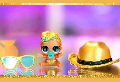 LOL Surprise Lil Sister The Luxe Queen New Series Eye Spy Ultra Rare Gold