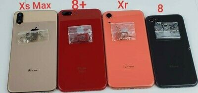 new style 1d240 62c87 REPLACEMENT BACK GLASS Housing Frame Battery Door Cover iPhone 8 Plus OEM  Lot
