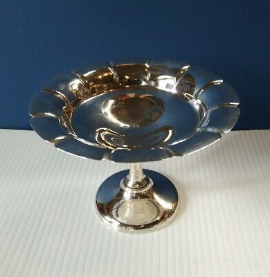 Birks Scalloped Sterling SIlver Pedestal Candy Nut Dish Canada