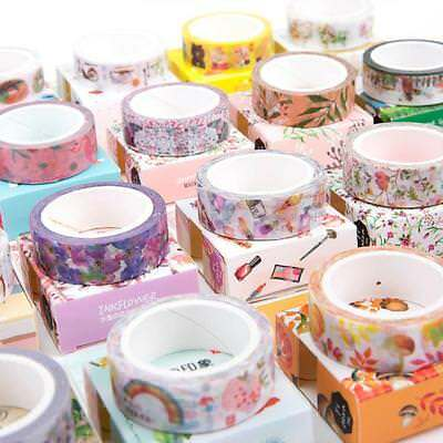Watercolor Washi Paper Self-Adhesive Decorative Sticky Paper DIY Masking Tape TO