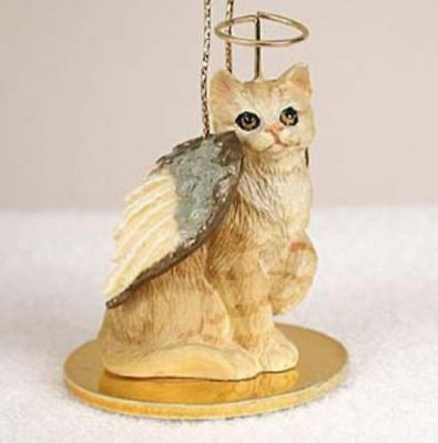 Red Shorthair Tabby Cat Tiny Ones Angel Ornament