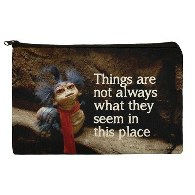 Labyrinth Worm Quote Not What They Seem Makeup Cosmetic Bag Organizer Pouch