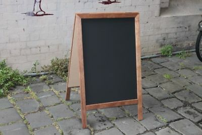 Large A-Frame Chalkboard, Recycled Merbau Timber, Pavement Menu Sign
