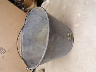 Old Metal Calf Feeder Bucket that Hangs on Fence for Flower Pot Garden Planter