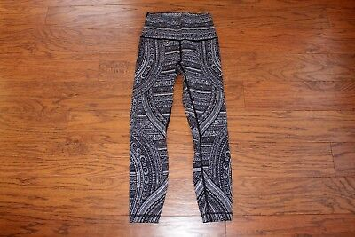 95cd5116eb NWOT LULULEMON HIGH Times Pant Antique Paisley White Black Size 6 ...