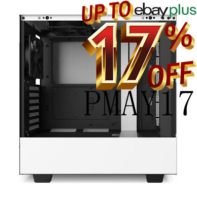 NZXT H510 ATX White Gaming Tempered Glass Case Matte Mid Tower Window Desktop PC