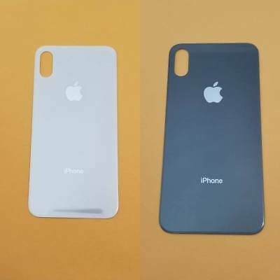 Battery Glass Cover Housing Back Door Replacement w Adhesive For iPhone X OEM