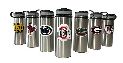 Stainless Steel Water Bottles. 18oz & 32oz. Vacuum Insulated. College Teams.