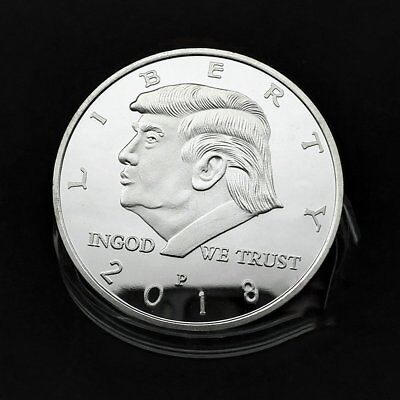 Hot US President Donald Trump 2018 KEEP AMERICA GREAT Silver Challenge Coin