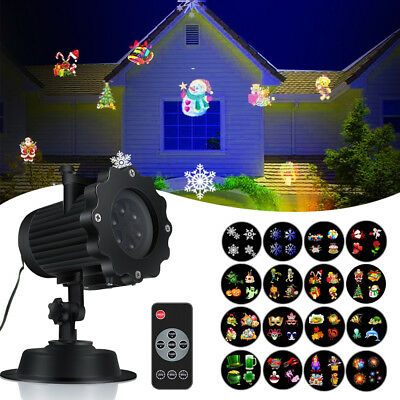16Pattern Moving LED Laser Projector Lamp Landscape Light Xmas Party Outdoor