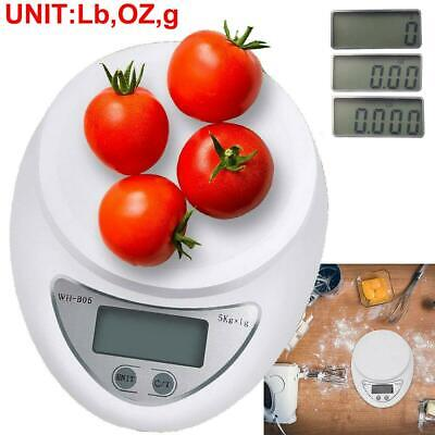 11lb 5kg/1g Digital Kitchen Scale Food Diet Postal LCD Weigh Electronic Scales