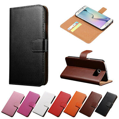 For Samsung Galaxy S5 S6 S7 Flip Litch Leather Wallet Card Stand Case Cover